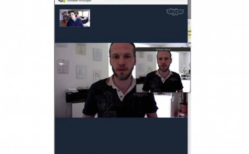 Hatte mein erstes Skype-Meeting