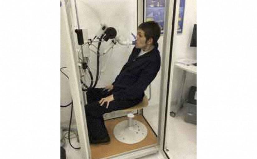 Die Traufen montiert und ein Pneumologischer-Untersuch mit Sprechstunde
