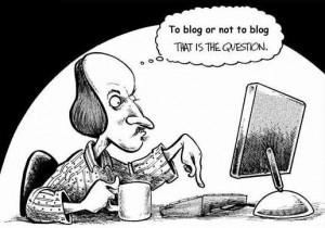 Männchen am bloggen