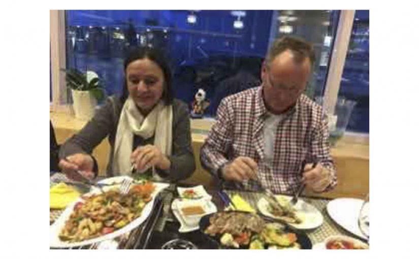 Nachtessen mit Müätsch und H.J.im frisch eröffneten DaOn