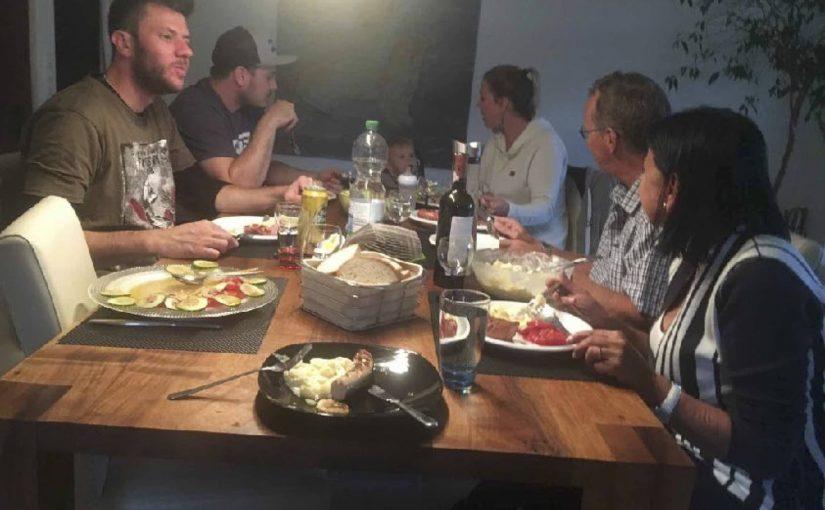 Nachtessen mit Ste und seiner eigenen Family