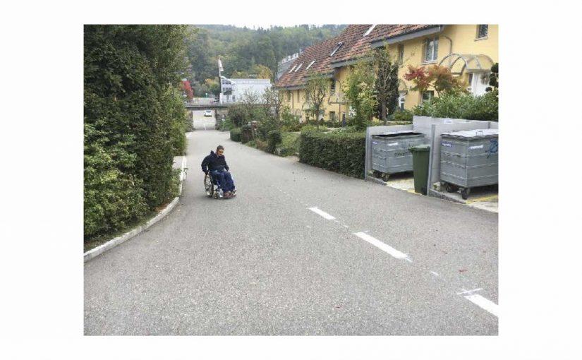 Am Montagmorgen gleich eine recht ordentliche Rollstuhl-Runde