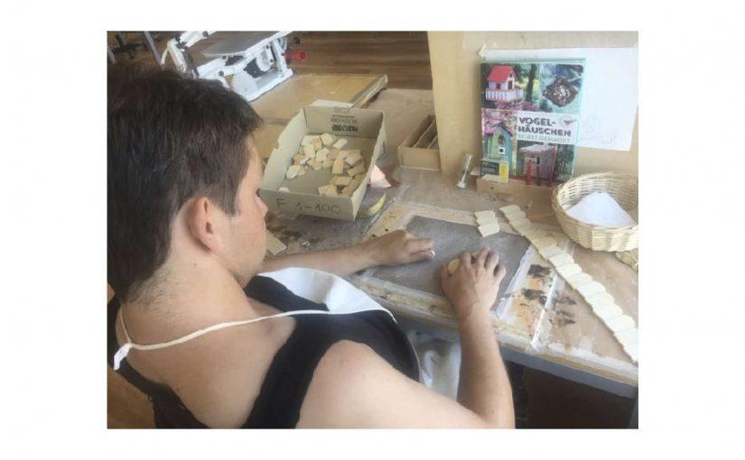 Wieder Holz-Ziegel vorbereiten