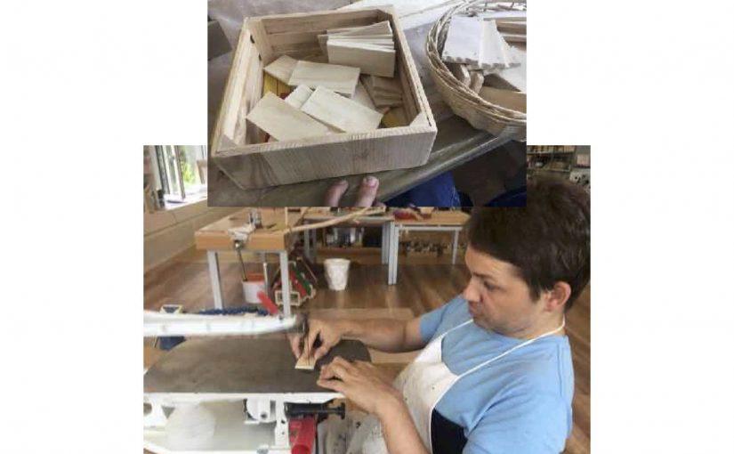 Läden für Insektenhotels produzieren ist eine anspruchsvollere Arbeit im zeka