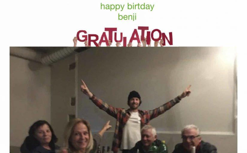 Benji's birthdayapéro war sehr amüsant