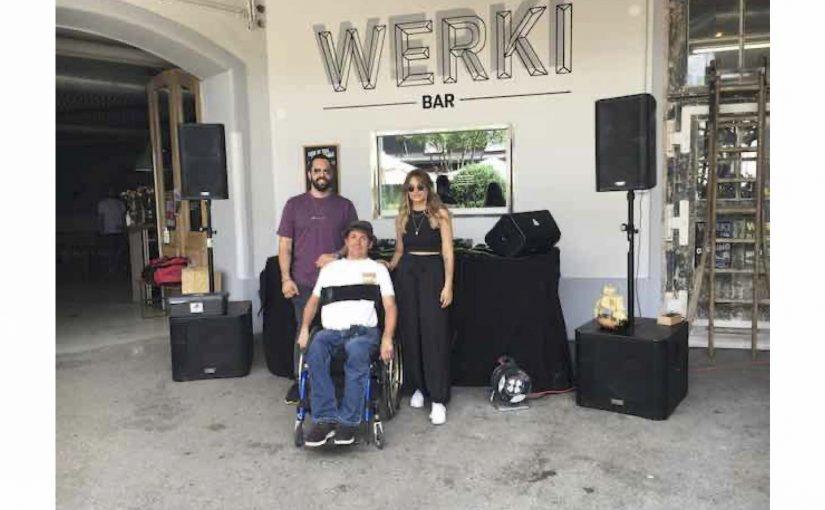 Eine Technoparty in der Weki findet statt