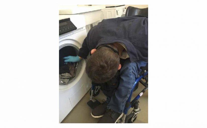 Das erste Mal die Wäsche gewaschen