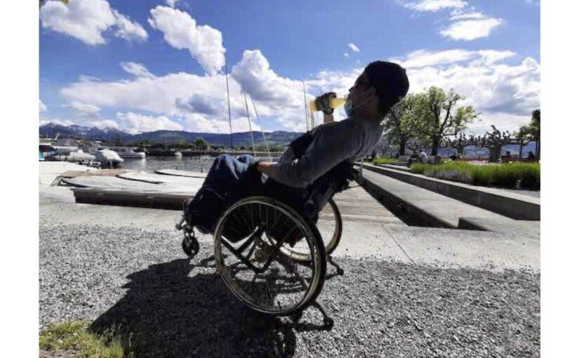 Rollstuhl-Runde an den Zürichsee